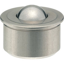 Edelstahl-Kugelrolle / zylindrischem Sockel