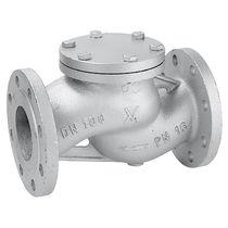 Rückschlagventil für Dampf / mit Scheibe / Flansch / Durchsatzkontrolle