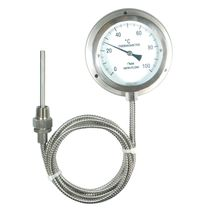 Gas-Thermometer / analog / Flansch / Edelstahl