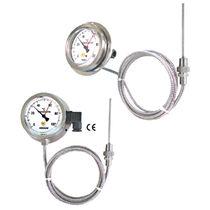 Gas-Thermometer / analog / Eintauchfühler / Edelstahl