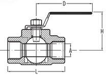 Kugelventil / Hebel / für Chemikalien / 2-teilig
