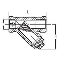 Flüssigkeitsfilter / mit Sieb / Y-förmig
