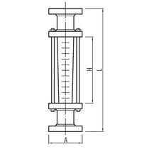 Schwebekörper-Durchflussmesser / für Gas / für Flüssigkeiten / Glasrohr
