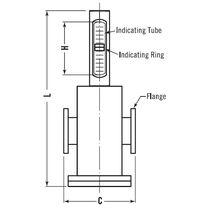 Schwebekörper-Durchflussmesser / für Flüssigkeiten / Metallrohr / im Messrohr