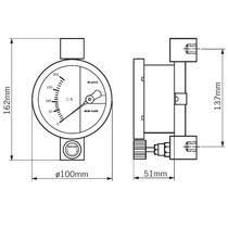 Schwebekörper-Durchflussmesser / für Gas / Metallrohr / in Reihe