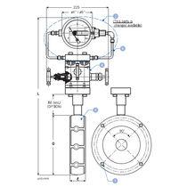 Steckblende zur Duchsatzmessung bei Differentialdruck
