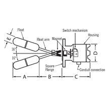 Magnetschwimmer-Niveauschalter / für Flüssigkeiten / Edelstahl / IP65