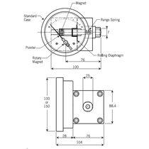 Analoges Manometer / Membran / Differential / Prozess
