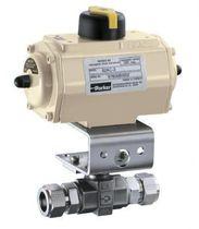 Elektrischer Ventilantrieb / pneumatisch / drehbar / doppeltwirkend