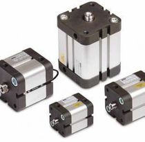 Pneumatischer Zylinder / Doppel / Kolbenstangen / kompakt