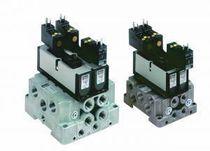 Pneumatik-Wegeventil / Schieber / mit elektrischer Bedienung / auf Sockel