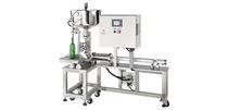 Flaschenabfüllanlage / halbautomatisch / Flüssigkeit / für viskose Produkte