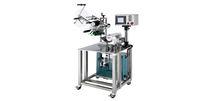 Halbautomatische Etikettiermaschine / für zylinderförmige Produkte / rundumschließend / 2 Etiketten