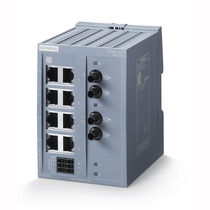 Ethernet-Switch / unmanaged / 8 ports / LWL / DIN-Schienen