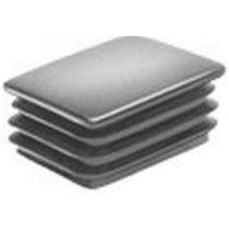 Gewindelose Endkappe / rechteckig / Polyethylen / für Rohre