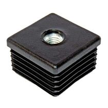 Gewinde-Endkappe / quadratisch / Stahl / Polyethylen