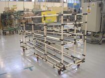 Wagen für Materialhandling / Metall / Fachböden / für zerbrechliche Waren