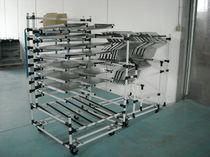 Wagen für Materialumschlag / Metall / Fachböden / multifunktional