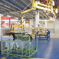 Pneumatischer Manipulator / mit Greifsystem / Umschlag / mit Schienenaufhängung