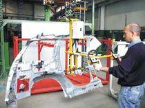 Pneumatischer Manipulator / zur Positionierung / für Karosserie-Teile
