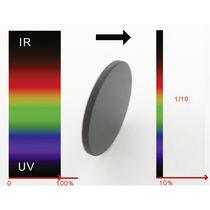 Farbiger optischer Filter / aus Glas / mit neutraler Dichte