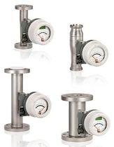 Schwebekörper-Durchflussmesser / für Flüssigkeiten / Metallrohr / Edelstahl