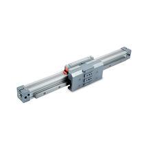 Pneumatischer Zylinder / kolbenstangenlos / mit regulierbarer Federung / aus anodisiertem Aluminium