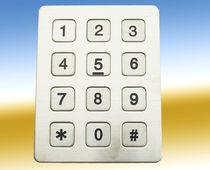 Nummernblock / 12 Tasten / einbaufähig / Edelstahl / nach Maß