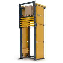 Säulenaufzug / mechanisch / für Paletten / motorisiert