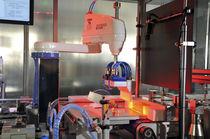 Halbautomatische Verpackungsmaschine / in Reihe / Flaschen / hoher Arbeitstakt