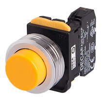 Metall-Drucktaster / elektromechanisch / Momentaktion / flach