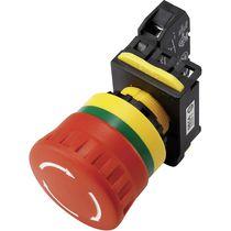Drucktaster mit Pilzkopfzapfen / elektromechanisch / Not / IP20