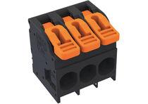 Federdruck-Reihenklemme / für PCB / Kunststoff / isoliert