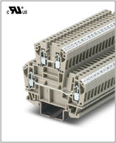 Reihenklemme auf DIN-Schiene / Durchführung / zweistufig
