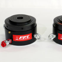 Hydraulischer Zylinder / Einmalwirkung mit Wiederholung durch Gravität / mit Sicherungsmutter / Rostschutz