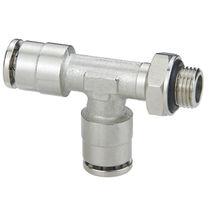 Push-in-Anschluss / T / pneumatisch / aus vernickeltem Messing
