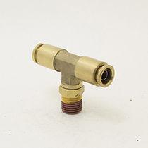 Push-to-Lock-Anschluss / T / pneumatisch / Messing