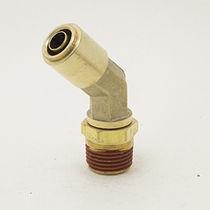 Push-in-Anschluss / 45°-Winkel / pneumatisch / Messing