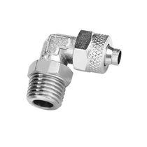 Schraubanschluss / 90°-Winkel / pneumatisch / aus vernickeltem Messing