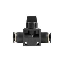 Push-to-Lock-Anschluss / gerade / pneumatisch / mit integriertem Absperrventil