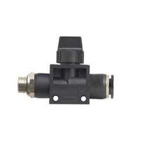 Push-in-Anschluss / gerade / pneumatisch / mit integriertem Absperrventil