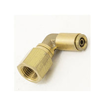 Push-in-Anschluss / Winkel / pneumatisch / Messing