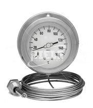 Thermometer / Gasdruck mit Fernleitung / Gas / Flansch / Edelstahl
