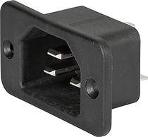 Stromversorgungs-Steckverbinder / DIN / quadratisch / Schrauben