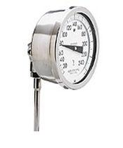 Gas-Thermometer / analog / Eintauchfühler / aus Edelstahl
