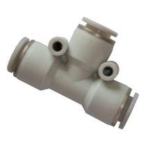 Schnell-Anschluss / T / pneumatisch / Kunststoff