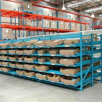 Warenlager-Regal / für mittelschwere Lasten / für Schachteln / dynamisch