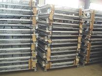 Stahl-Boxpalette / Maschendraht / für Materialumschlag / klappbar