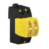 Überspannungsableiter Typ 2 / einphasig / DIN-Schienen / für Stromversorgung