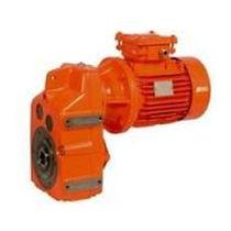 Asynchron-Elektrogetriebemotor / parallel / Schneckenzahnrad / kompakt